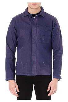 BARBOUR Paint splash denim shirt