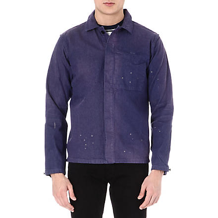 BARBOUR Paint splash denim shirt (Navy