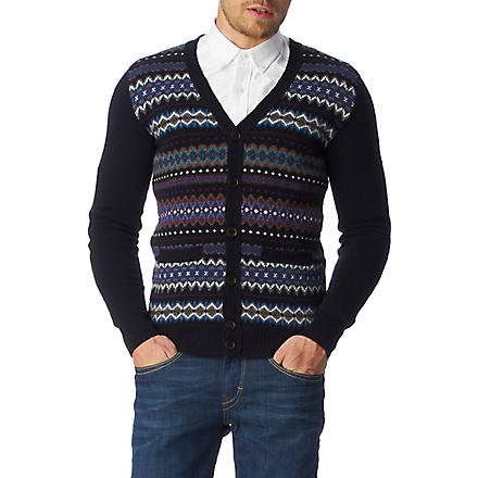 BARBOUR Mildon Fair Isle cardigan (Navy