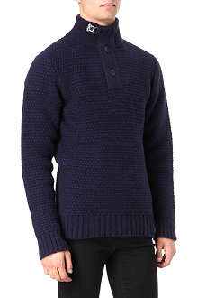 BARBOUR Milburn half-button knitted jumper