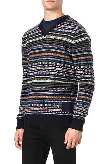 BARBOUR Dalehead Fair Isle knitted jumper
