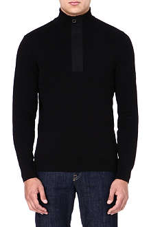 BARBOUR Throttle zipped-neck jumper