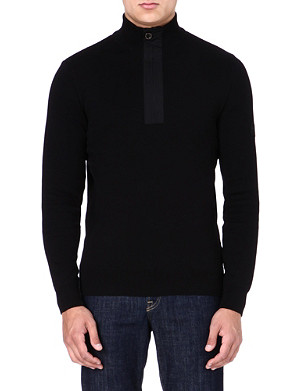 BARBOUR Throttle zipped-neck jumper