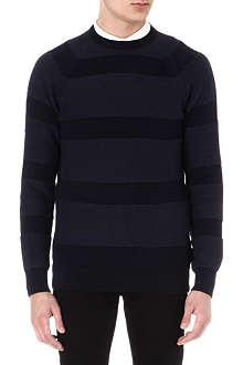 BARBOUR Striped knitted jumper