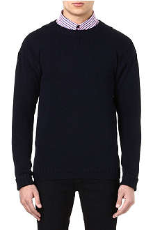 BARBOUR Crew neck knitted jumper