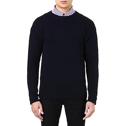 BARBOUR Crew neck knitted jumper (Navy