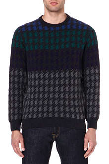 BARBOUR Houndstooth knit jumper