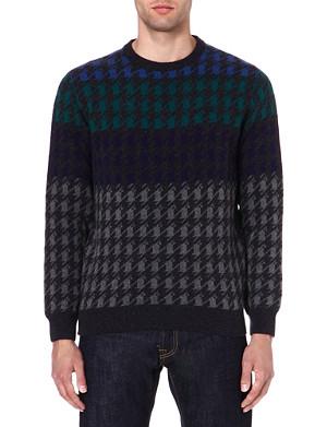 BARBOUR Houndstooth knit jumper