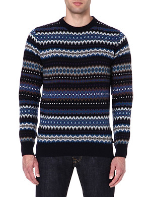 BARBOUR Fair Isle wool jumper