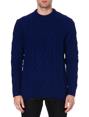 BARBOUR Cable-knit wool jumper