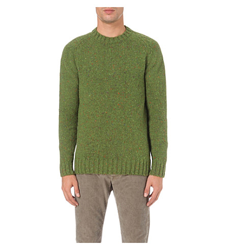 BARBOUR Netherby flecked wool jumper (Green
