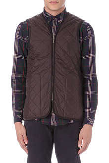 BARBOUR Quilted wool-blend gilet