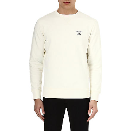 BARBOUR Logo jersey sweatshirt (Neutral