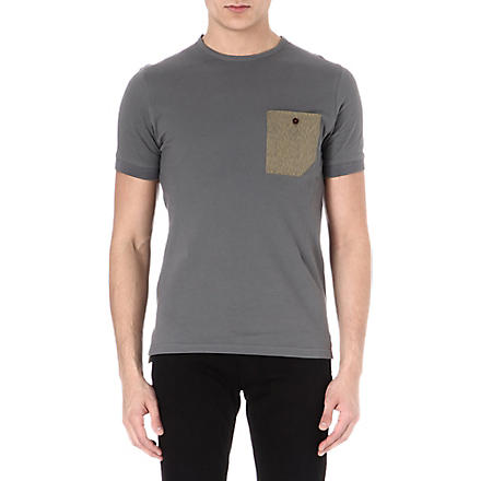 BARBOUR Contrast pocket t-shirt (Slate