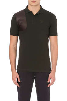 BARBOUR Babble leather patch polo shirt
