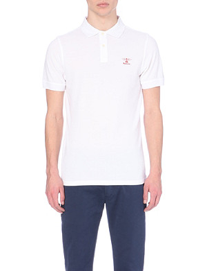 BARBOUR Logo-embroidered polo shirt