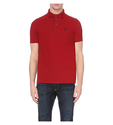 BARBOUR Joshua cotton-piqué polo shirt (Crimson