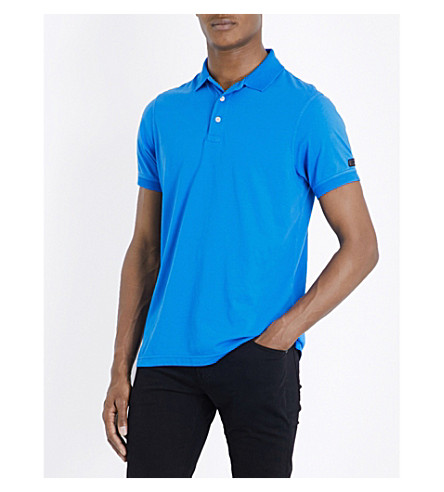 BARBOUR B.intl. International cotton-jersey polo shirt (Fresh+blue