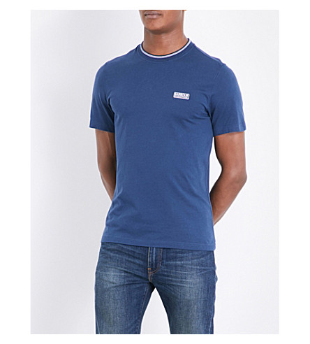 BARBOUR Logo cotton-jersey T-shirt (Insignia+blue