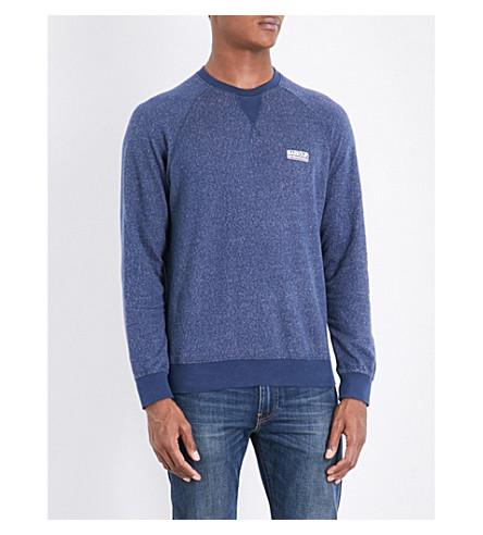 BARBOUR Skyway cotton-jersey sweatshirt (Insignia+blue