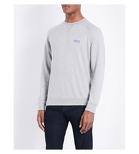 BARBOUR Skyway cotton-jersey sweatshirt (Grey+marl