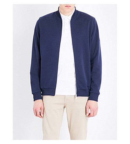 BARBOUR Sani zip-up cotton-blend jacket (Navy