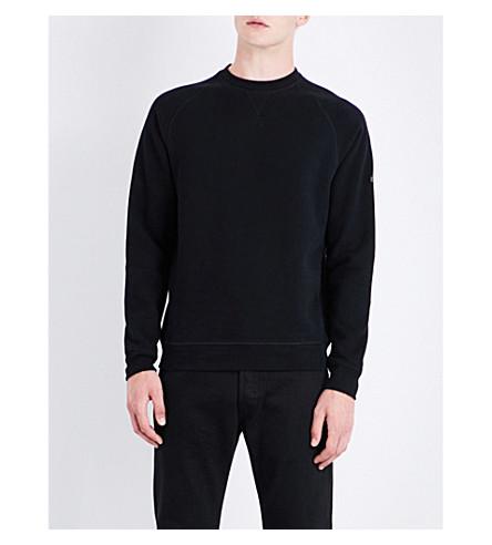 BARBOUR Gauge logo-patch cotton-blend sweatshirt (Black