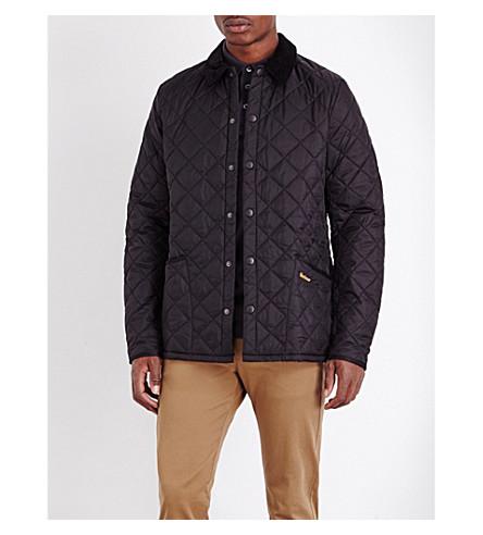 BARBOUR Liddlesdale 绗缝外软壳面料夹克 (黑色