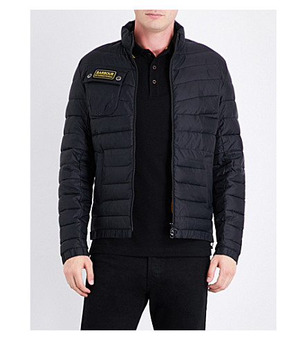 BARBOUR Baffle quilted shell jacket (Black