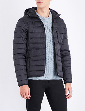 BARBOUR Ousten hooded quilted shell jacket