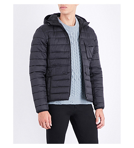 BARBOUR Ouston hooded quilted shell jacket (Black
