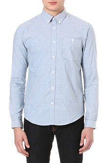 BARBOUR Flecked button-down shirt