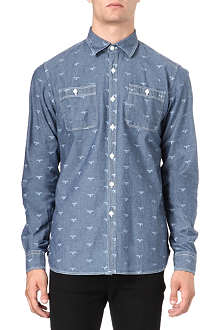 BARBOUR Lawson Beacon-print chambray shirt