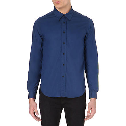 BARBOUR Plain cotton shirt (Navy
