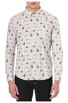 BARBOUR All-over fish-print shirt