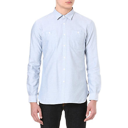 BARBOUR Embroidered dots shirt (Blue