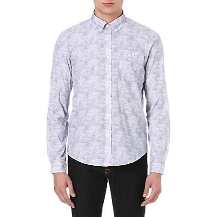 BARBOUR All-over fish shirt (Blue