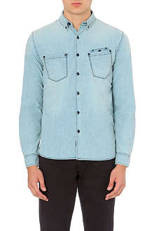 BARBOUR Washed slim-fit denim shirt