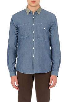 BARBOUR Contrast collar denim shirt