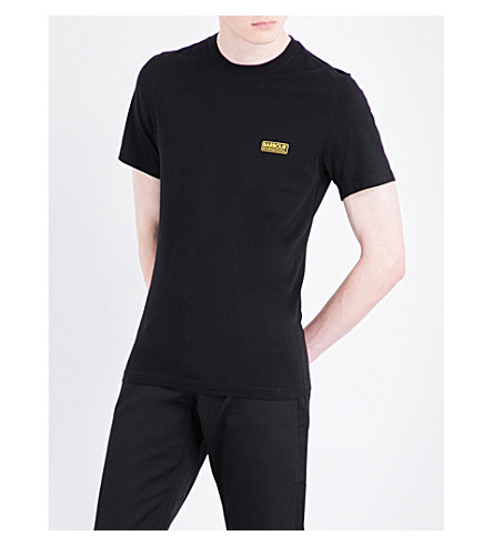 BARBOUR Logo cotton-jersey T-shirt (Black