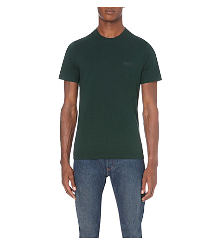 BARBOUR Logo cotton-jersey T-shirt (Green