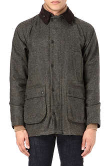 BARBOUR Bedale wool herringbone coat