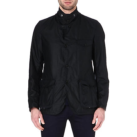 BARBOUR Beacon waxed-cotton sports jacket (Navy
