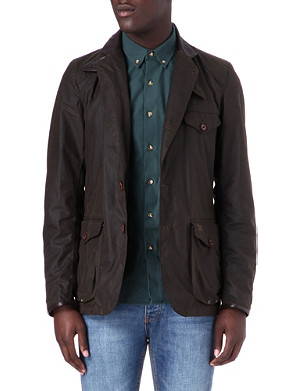 BARBOUR Beacon waxed-cotton sports jacket