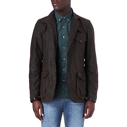 BARBOUR Commander waxed-cotton jacket (Olive
