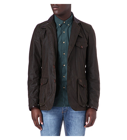 BARBOUR Beacon waxed-cotton sports jacket (Olive