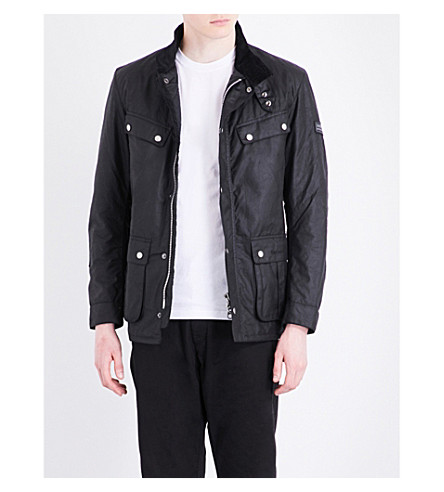 BARBOUR Duke waxed-cotton jacket (Black