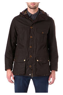 BARBOUR Galashields waxed-cotton jacket