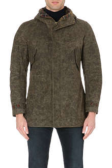 BARBOUR Mills 8oz hooded waxed-cotton jacket