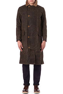 BARBOUR Long waxed-cotton coat